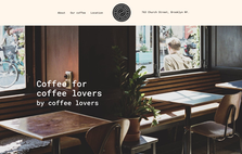 sample coffee bar website