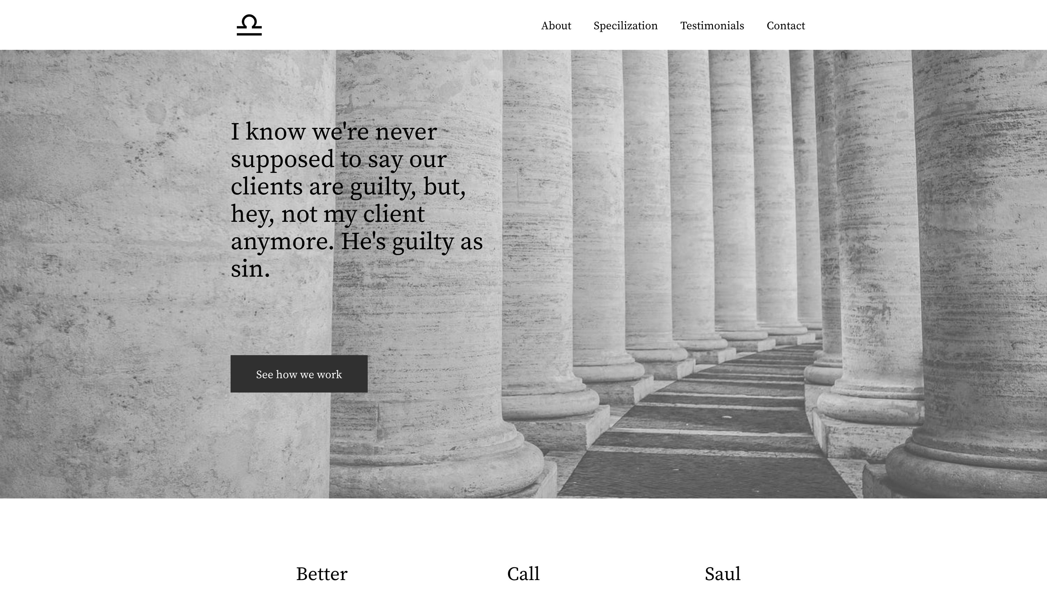 sample lawyer website