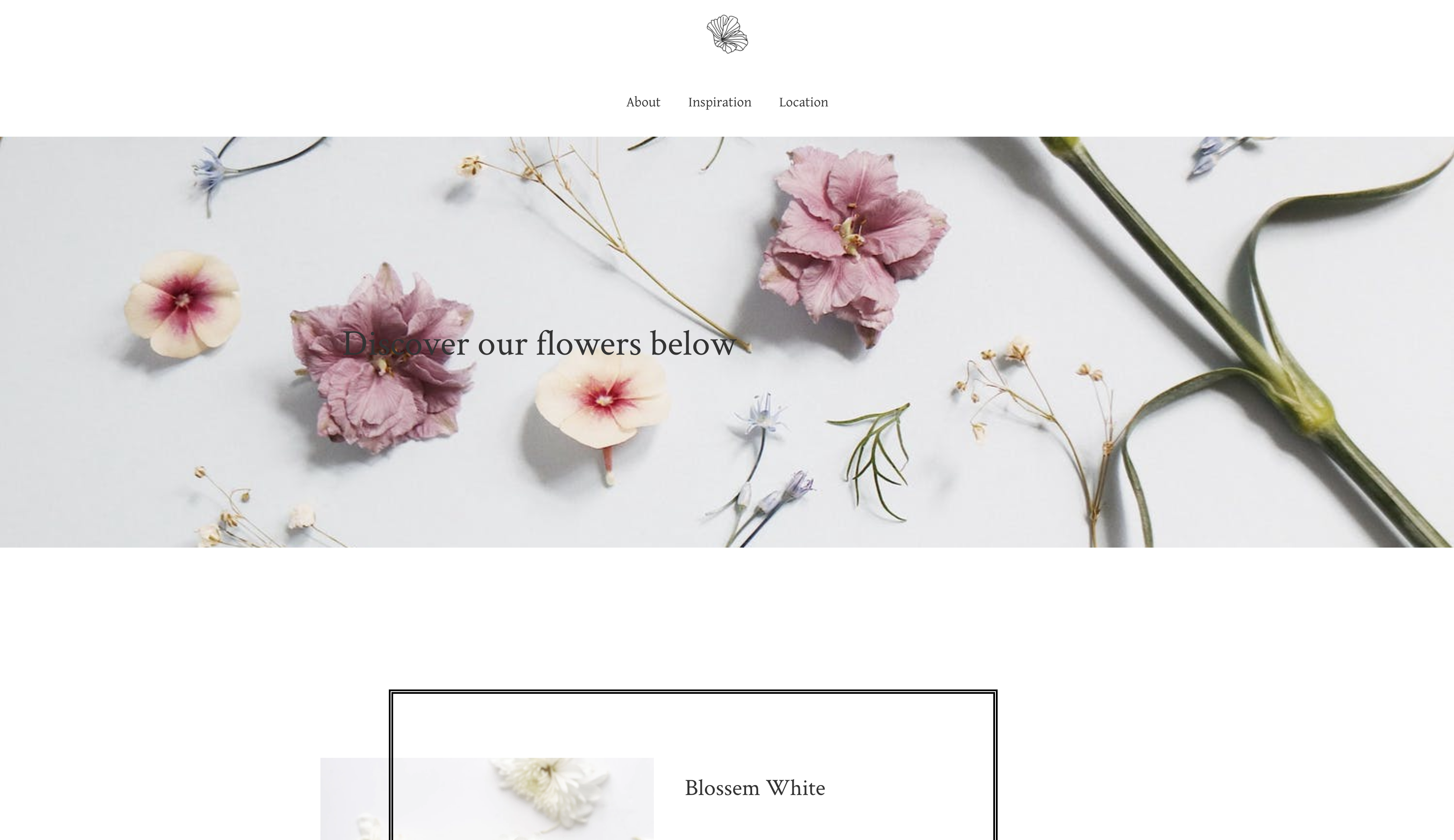 sample flowerstore website