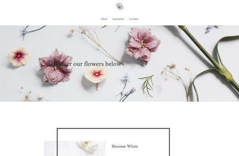 sample flowerstore website